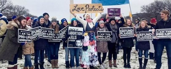 College Students Rise up to March for Life in their County